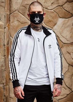 Олимпийка мужская в стиле adidas round белая