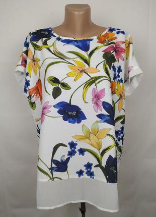 Блуза шикарная цветочная красивая uk 14/42/l