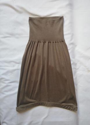 Дорогой бренд, натуральный трикотажный шелк, юбочка guess, есть нюанс!!