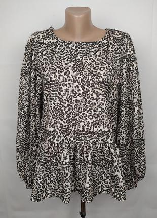Блуза новая шикарная с объёмными рукавами волан river island uk 14/42/l