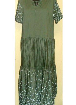 """Воздушное , легкое , натуральное платье """"бохо"""" , италия , р. 54 - 60"""