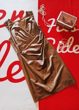 Вечернее платье миди футляр на запах ассиметричное блестящее нарядное kaliko