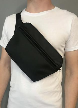 Сумка на плече  черная сумка на пояс xl