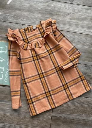 Платье рубашка  блуза фланель tu 5-6л
