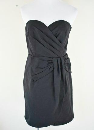 Классическое чёрное коктейльное платье-бюстье