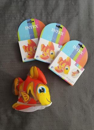 Надувная игрушка рыбка фламинго уточка для басейна ванной на море круг intex