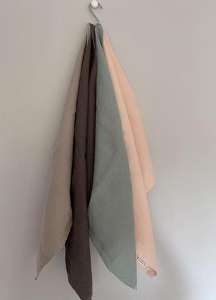 Люксовый текстиль для дома decopur, бельгия , салфетки люверс сет №2, 100 % лен