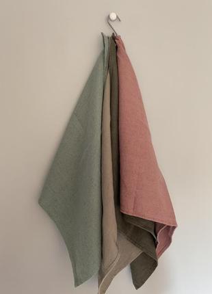 Люксовый текстиль для дома decopur, бельгия , салфетки люверс сет №3, 100 % лен