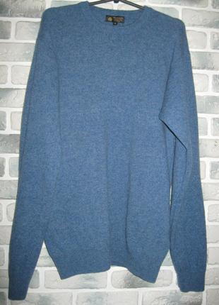 Шерстяной мужской свитер  woolmark