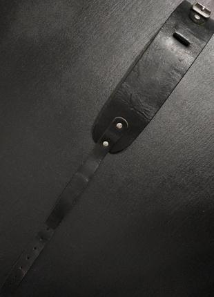Браслет мужской чёрный кожаный натцральная кожа zxc qwe