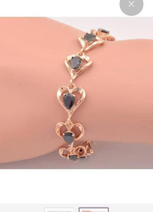 Красивый браслет с камнями, золото 18крт, ювелирная бижутерия