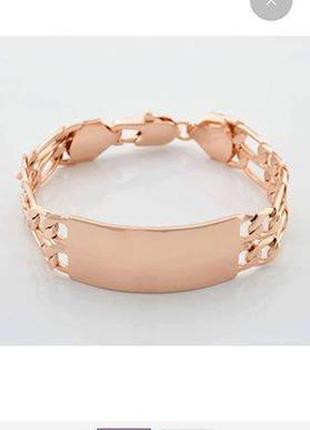 Шикарный браслет, ювелирная бижутерия, золото 18крт