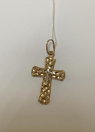 Золотой крестик крест 585