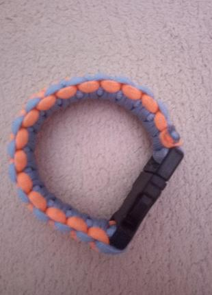 Мужской браслет из паракорда, неоновый браслет , браслет выживания