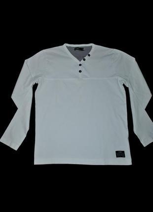 Реглан м мужской белый базовый бренд jack&jones дания кофта оригинал