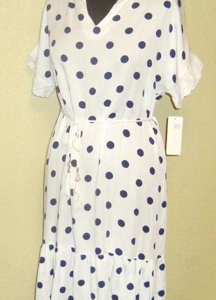 Воздушное , легкое , натуральное платье  , италия , р. 44- 52