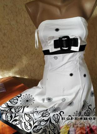 👗невероятно красивое пышное итальянское платье бандо из плотного хлопка