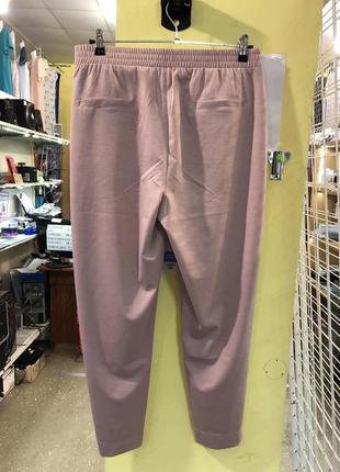 Летние легкие штаны баталы цвет грязно розовый персик2 фото