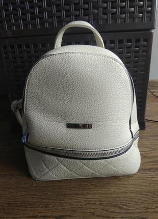 Білий рюкзак, сумка, літня сумка