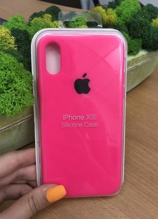 Чехол iphone x/xs яркой розовый