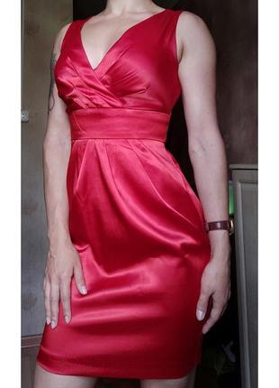 Платье плаття сарафан сукня атласное базовое 🌷