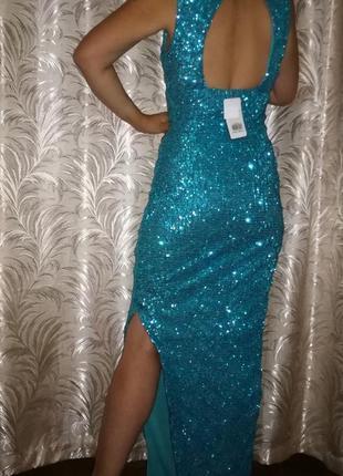 Вечернее платье в пол в пайетках