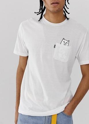 Белая футболка ripndip (stussy, ellesse)