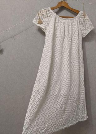 Платье кружевное белое