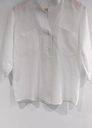 Блузка белая летняя р.s