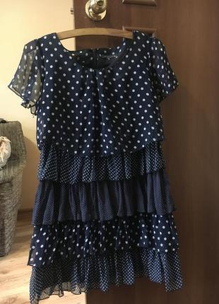 Платье в горох пэчворк1 фото