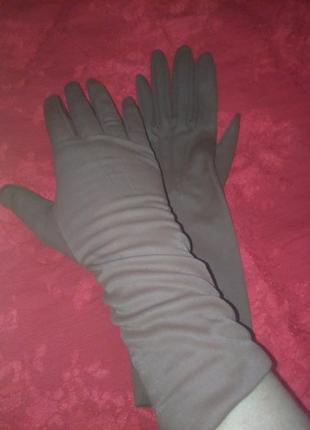 Длинные, винтажные, английские перчатки весна-лето-осень, dents, 7.5
