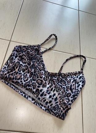 Красивый сексуальный бархатный топ boohoo велюр леопард принт