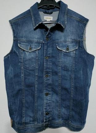 M 48 diesel жилет жилет джинсовый синий жилетка безрукавка zxc