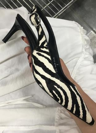 Туфли мюли на низком каблуке