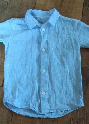 Рубашка футболка 12-18м 86см river island