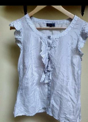 Літня футболка в полоску et vous шелк шовк шовкова футболка