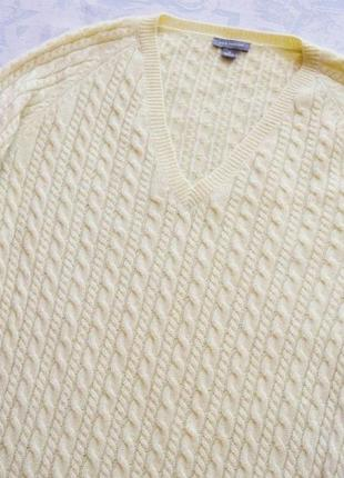 Кашемировый пуловер в косички 100% кашемир бежевый пуловер женская кофта