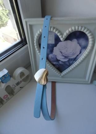 Голубенький ремешок с сердечком на 11-14 лет