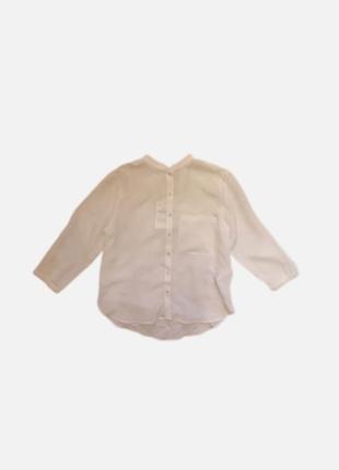 Жемчужная блуза рубашка 💯 натуральный шёлк zara