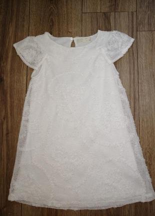 Платье нарядное zara на девочку 7 лет