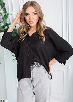 Удлинённая рубашка блузка