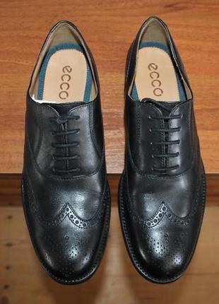 Ecco london новые кожаные туфли