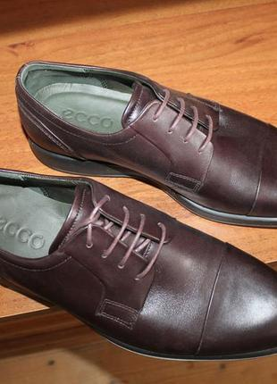 Ecco jared shock-point новые кожаные туфли