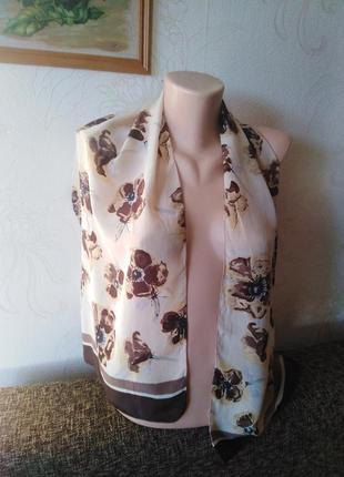 Nyc, натуральный шелк, шарфик, 33*130