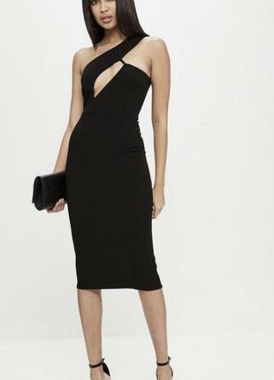 Чорна міді сукня