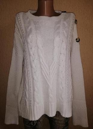 Красивый, теплый женский свитер, кофта, джемпер 18 р. marks & spencer