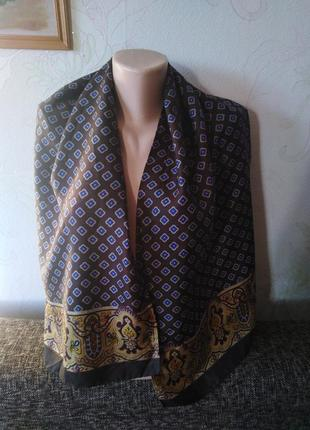 Натуральный шелк, шарфик, кашне, 43*134,роуль