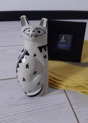 Милая кошка_керамическая статуэтка_декор  home