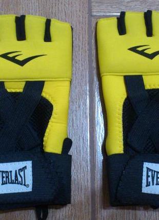 Перчатки бинты для единоборств эверласт everlast evergel hand wraps boxing mma р.l 🇨🇳