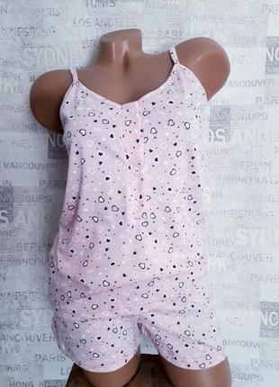 Комплект майка шорты пижама для кормления кормящих беременных 46,48
